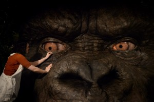 Madame Tussauds' Olivia Steen adds finishing touches to the London attraction's new Kong: Skull Island experience